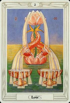 2 of Cups - Thoth Tarot