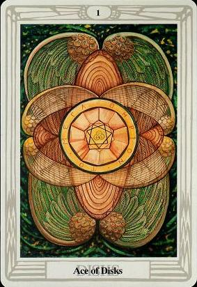Ace of Pentacles, Thoth Tarot