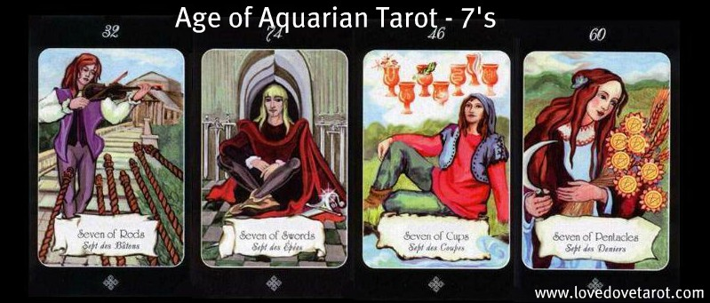 The 7's from the Age of Aquarian Tarot
