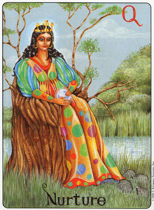 the queen of pentacles gill tarot