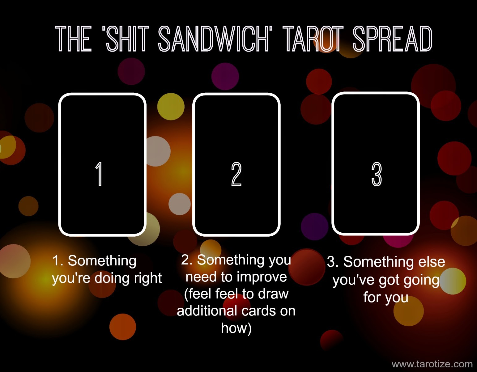 The Shit Sandwich Tarot Spread