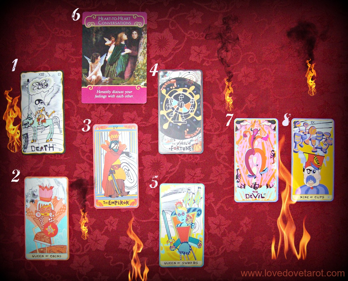 tarot reading image Sakki Sakki Tarot and Romance Angels Oracle