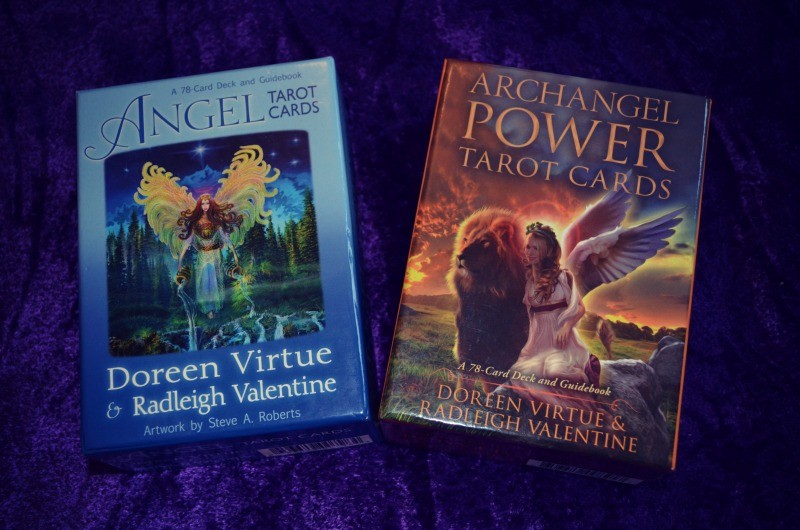 Angel Tarot Cards and Archangel Power Tarot Cards by Doreen Virtue and Radleigh Valentine