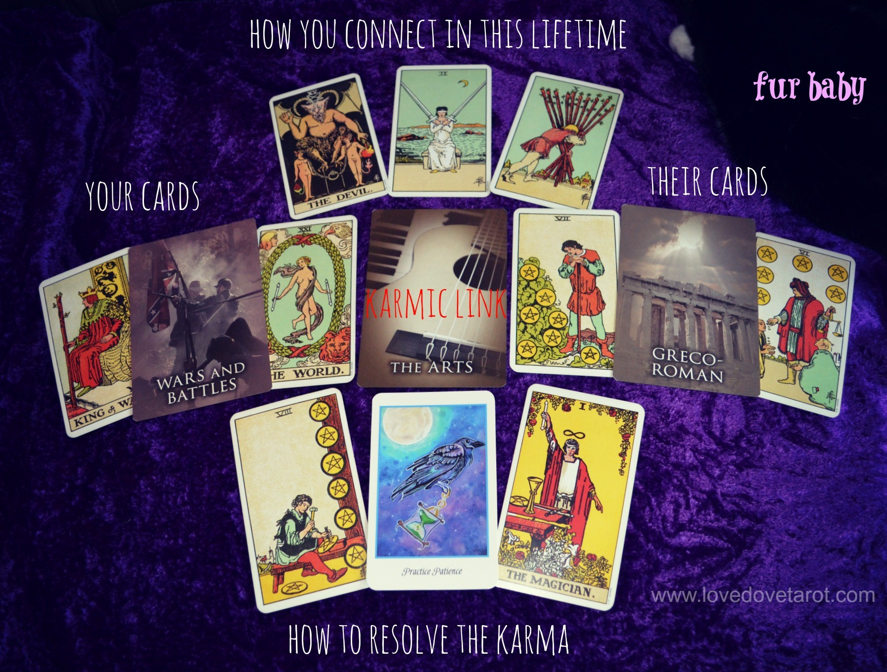 Karmic Relationship - Mixed Oracle Tarot Spread