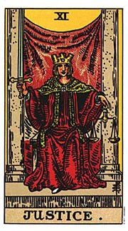 Holistic Tarot Card Meanings for Justice