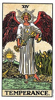 Holistic Tarot Card meanings for Temperance