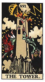 Holistic Tarot card meanings for The Tower