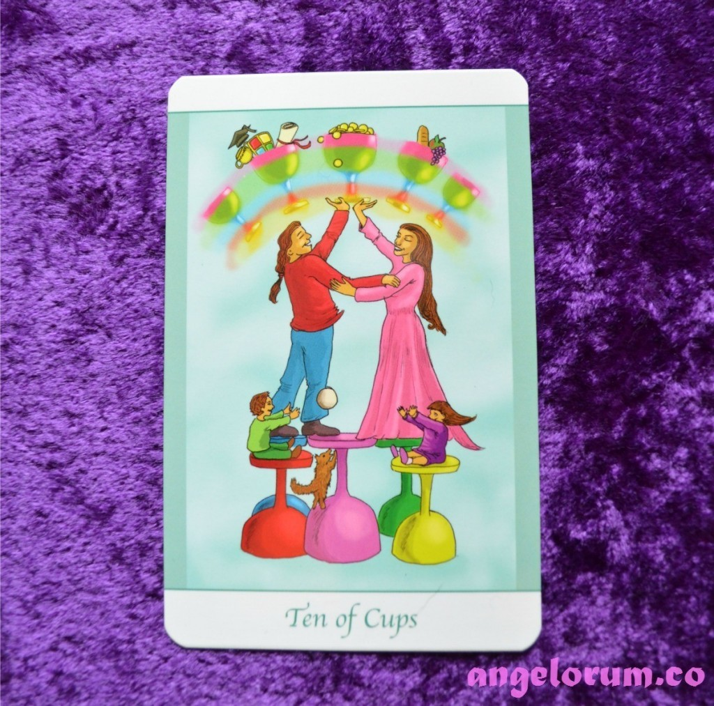 10 of Cups from the Simply Deep Tarot