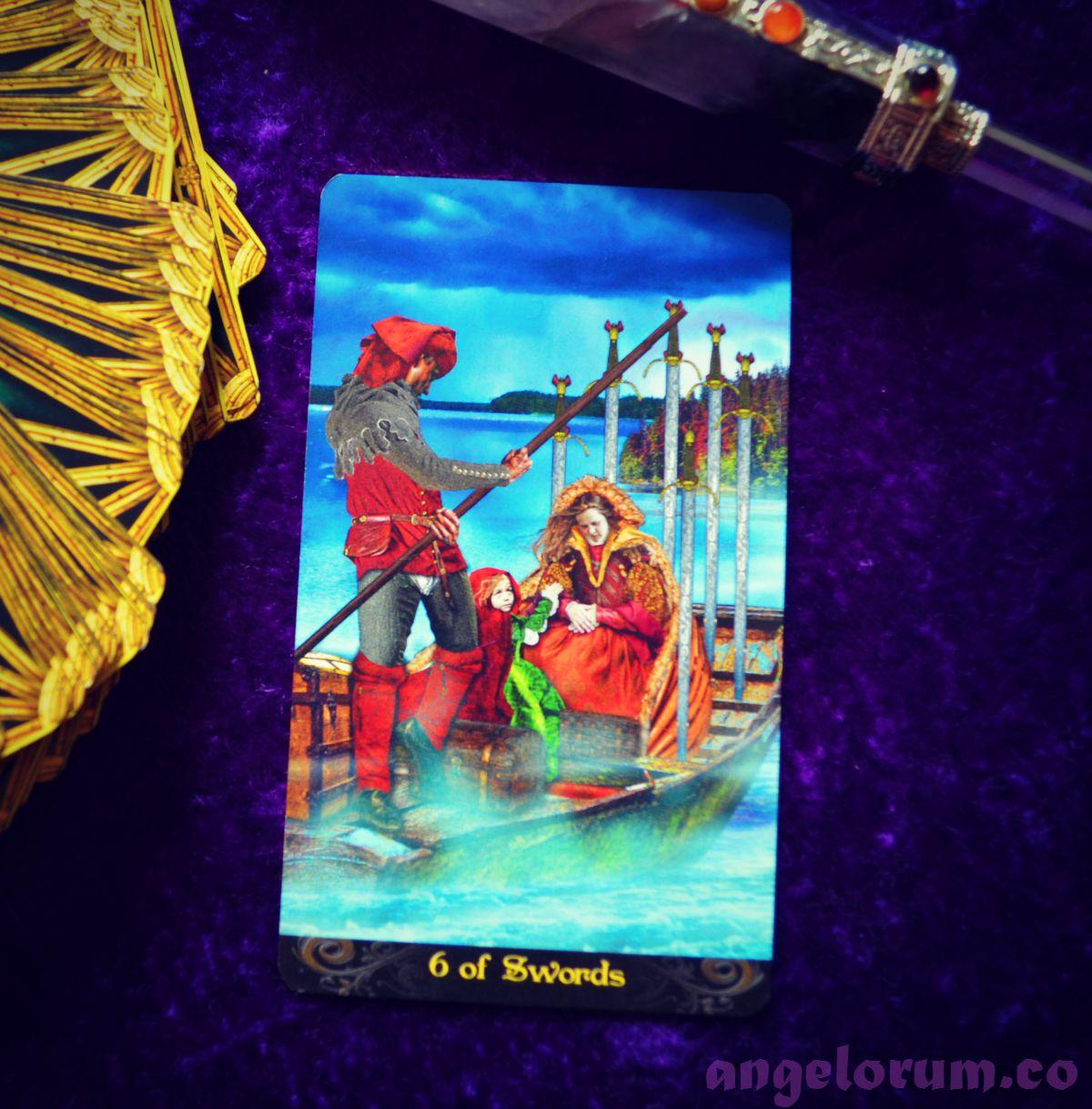 6 of Swords Tarot Illuminati
