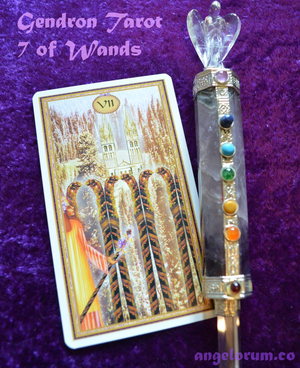 7 of Wands Daily Inspiration Gendron Tarot