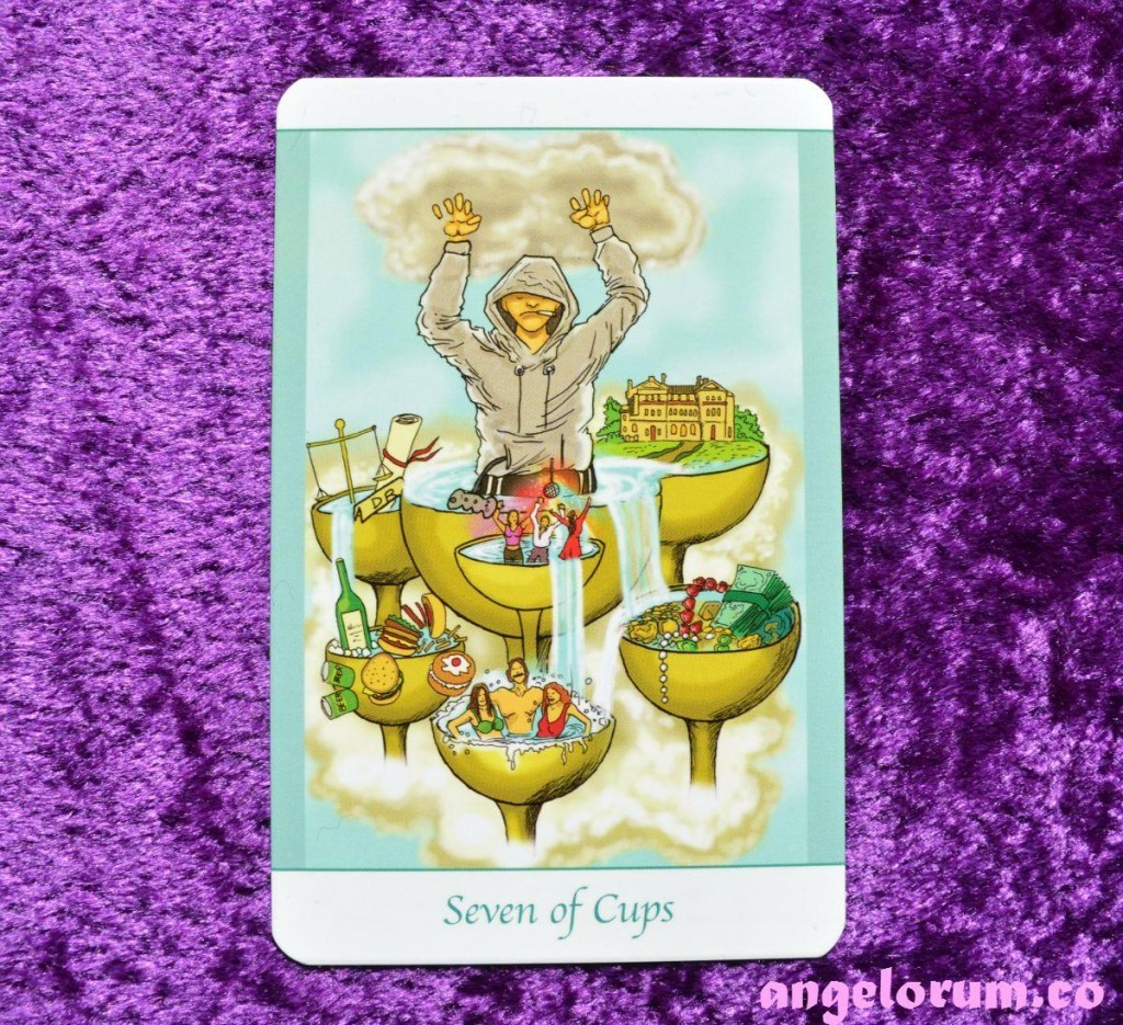 Daily Inspiration 7 of Cups from the Simply Deep Tarot