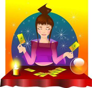 tarot reader with crystal ball