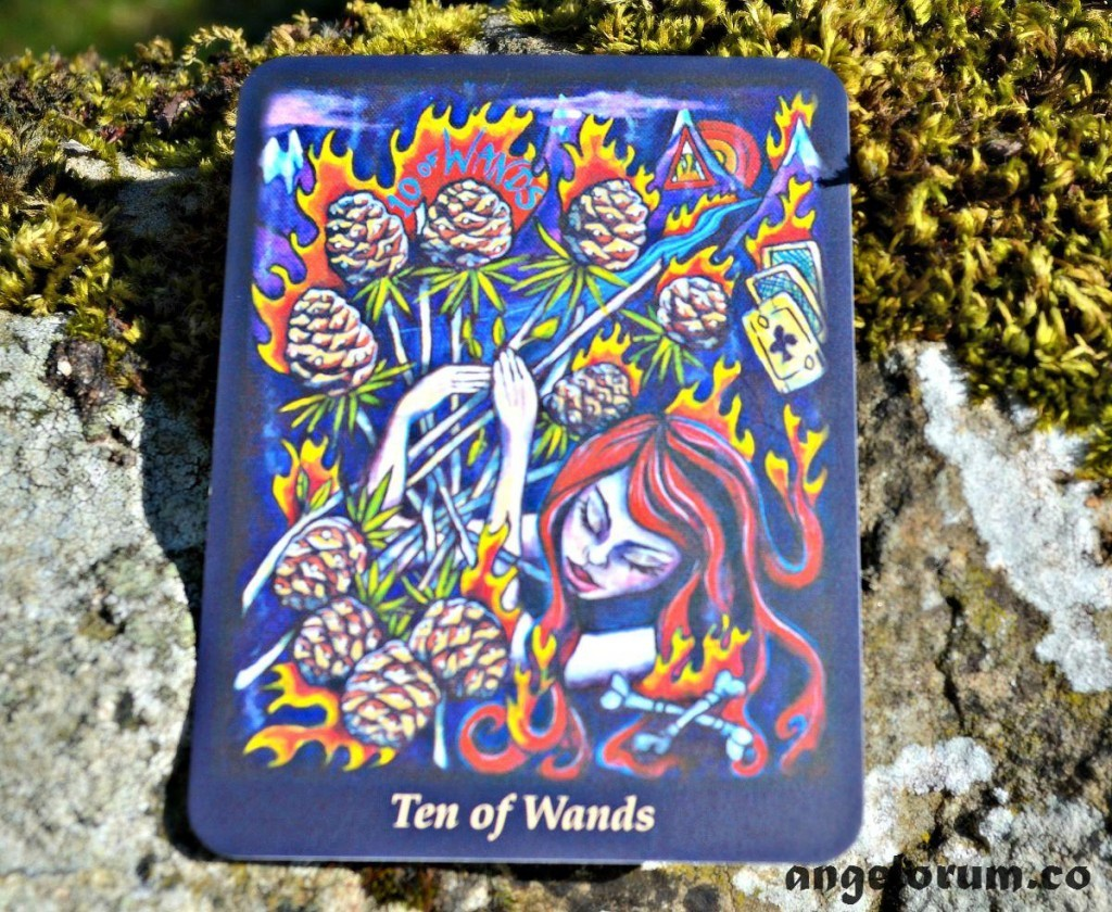 10 of Wands Bonefire Tarot