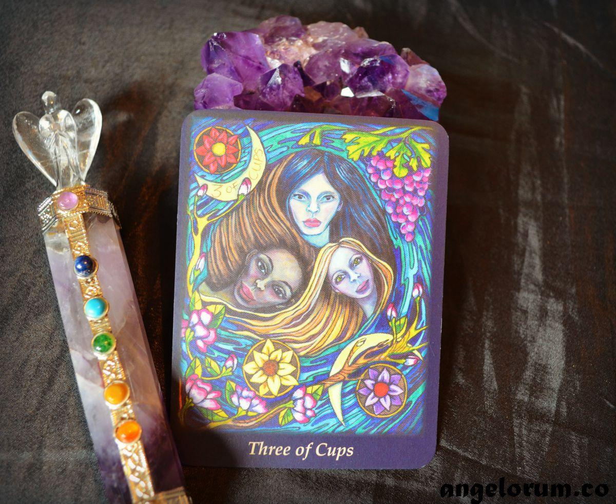3 of Cups Bonefire Tarot