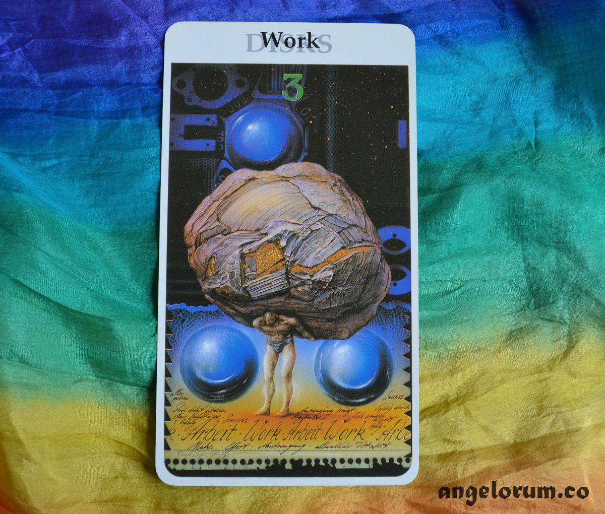 3 of Pentacles from the Rohrig Tarot