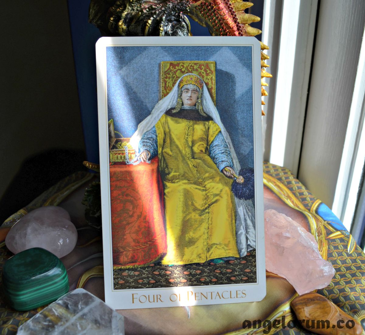 4 of Pentacles Victorian Romantic Tarot