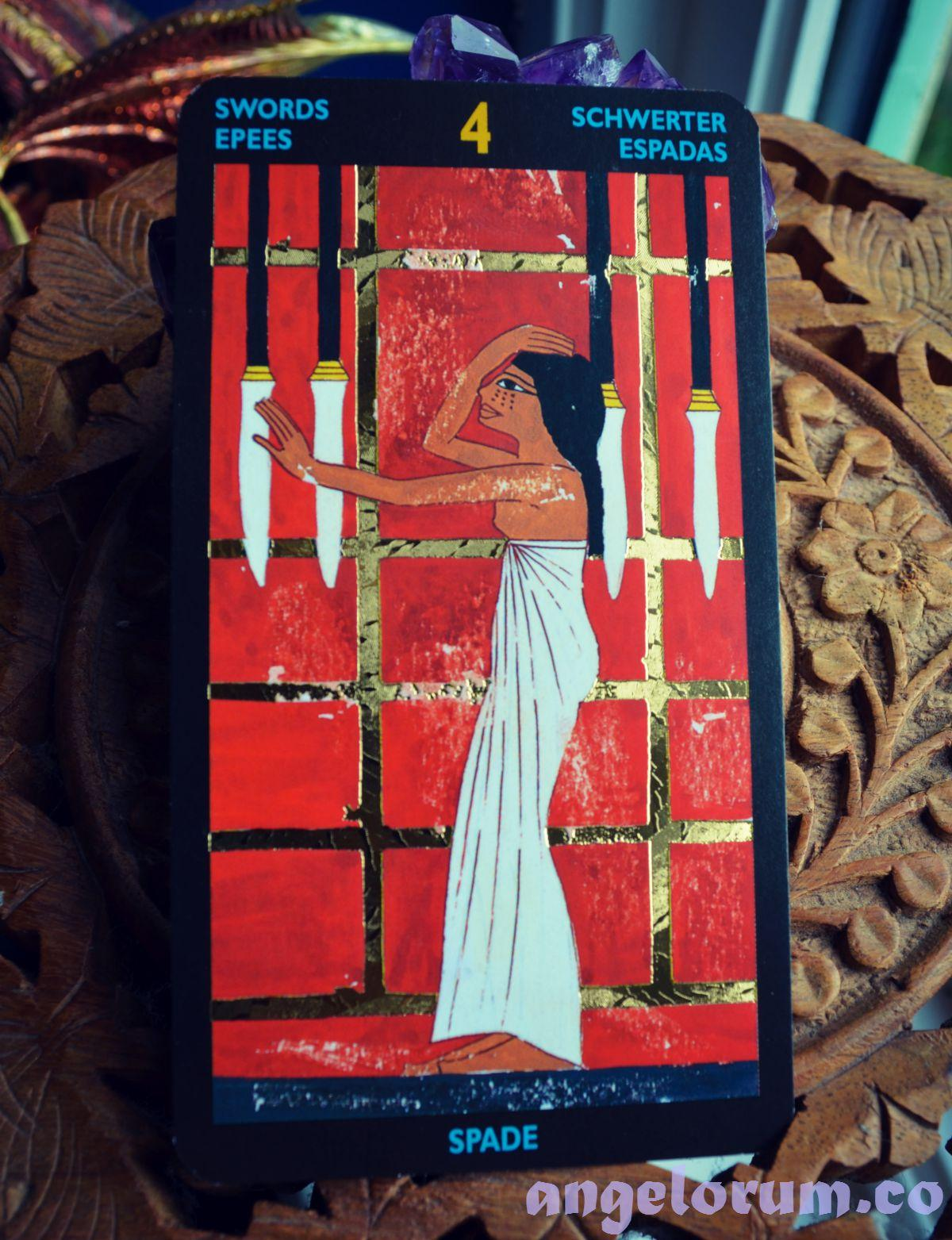 4 of Swords Nefertari's Tarot