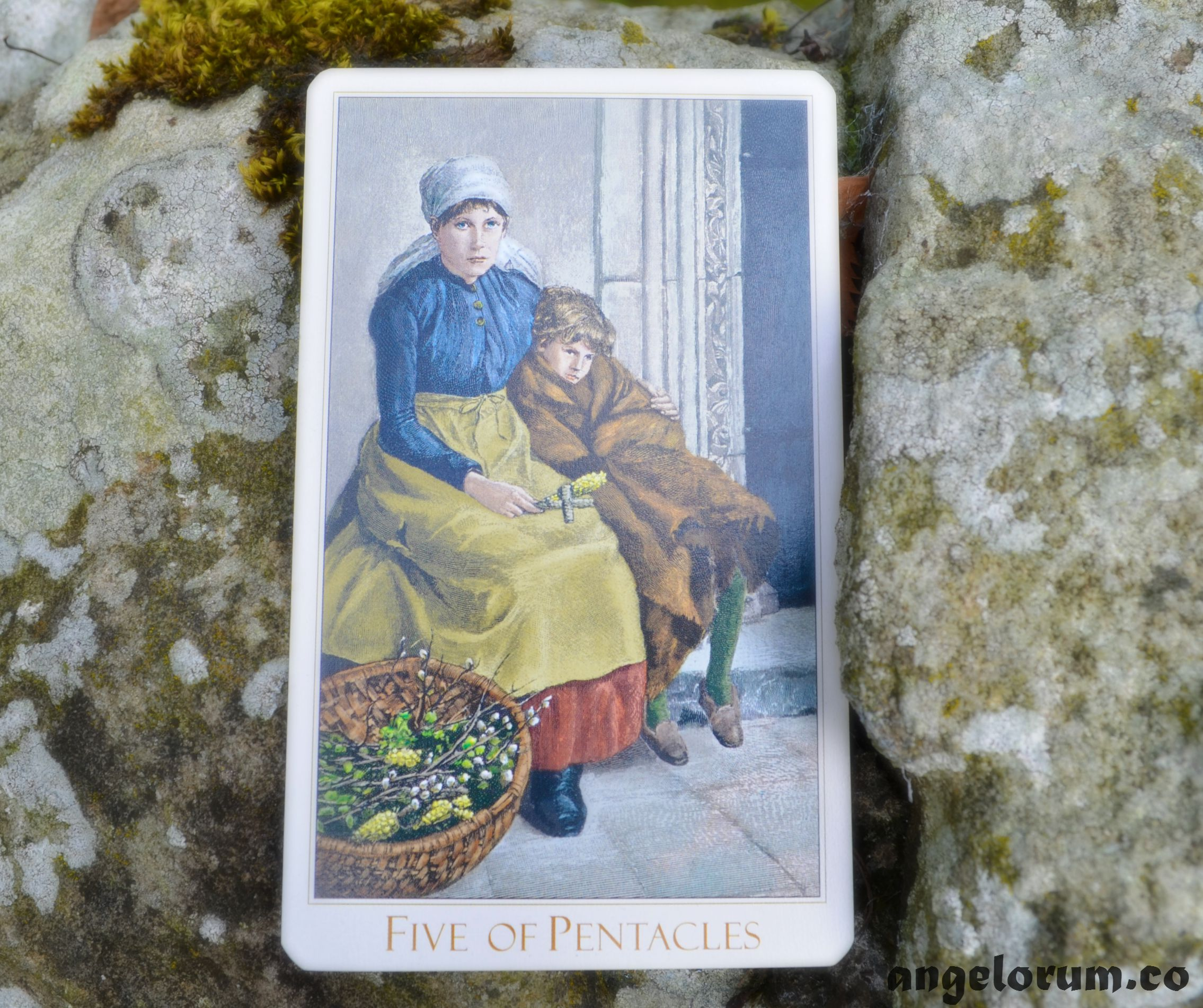 5 of Pentacles Victorian Romantic Tarot