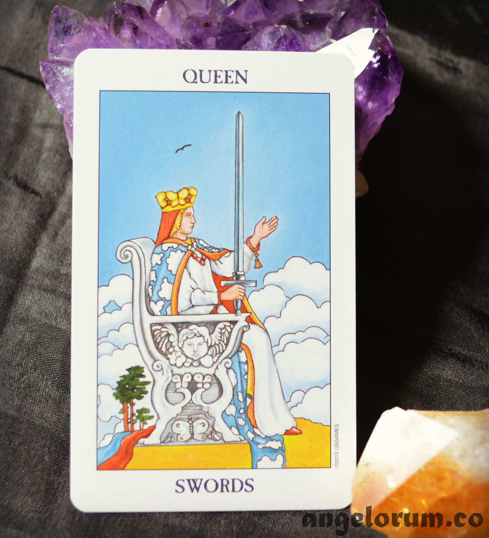 Queen of Swords Radiant Rider Waite