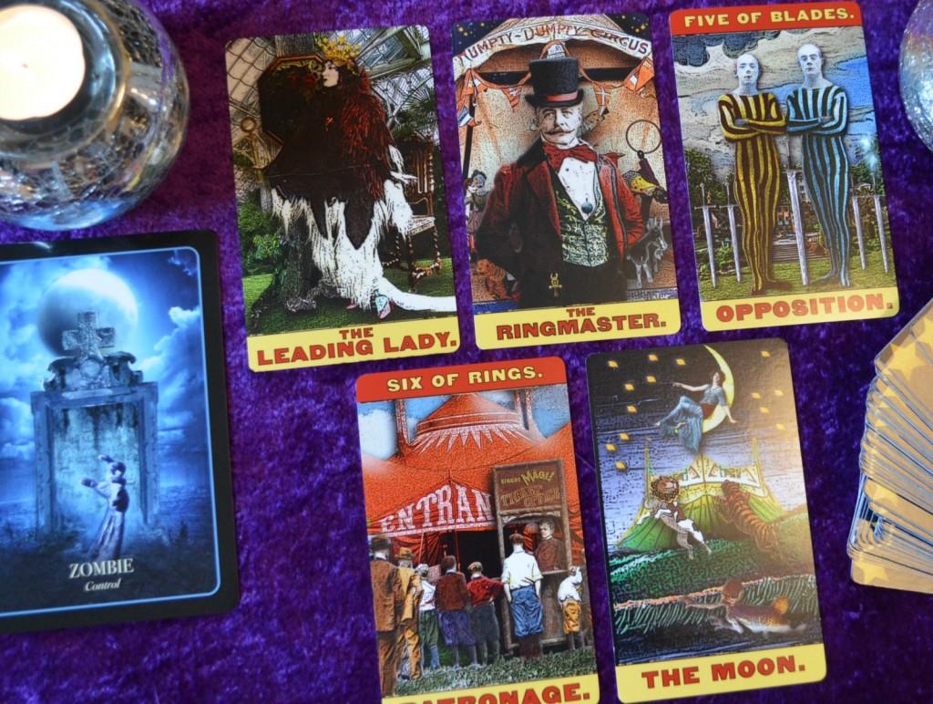 Tarot of the Zirkus Mägi and Halloween Oracle