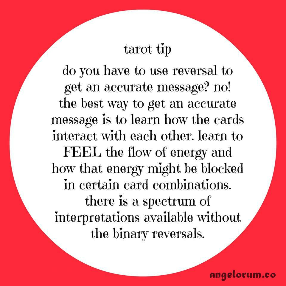 1 reversals tarot tip