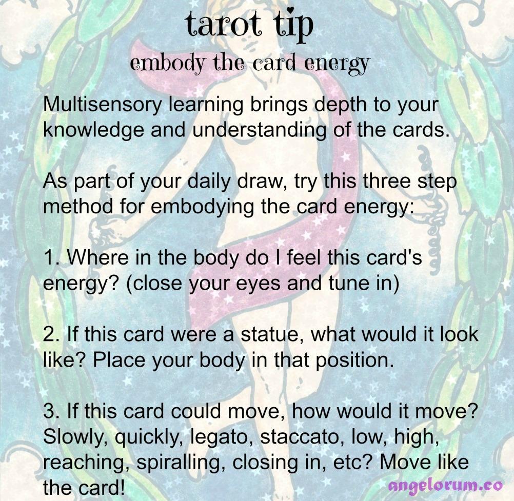 Embody the Tarot