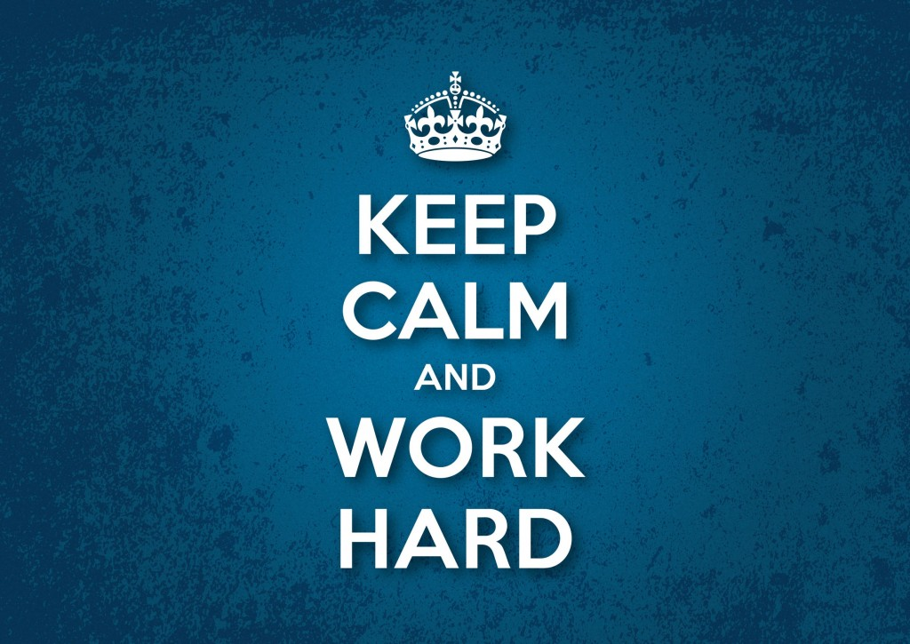 Keep Calm And Work Hard X