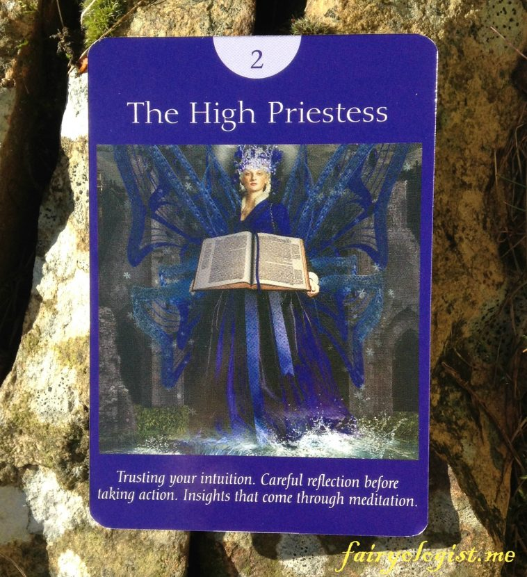 The High Priestess from the Fairy Tarot Cards