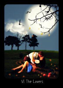 The Lovers Frideborg Tarot Digital Version