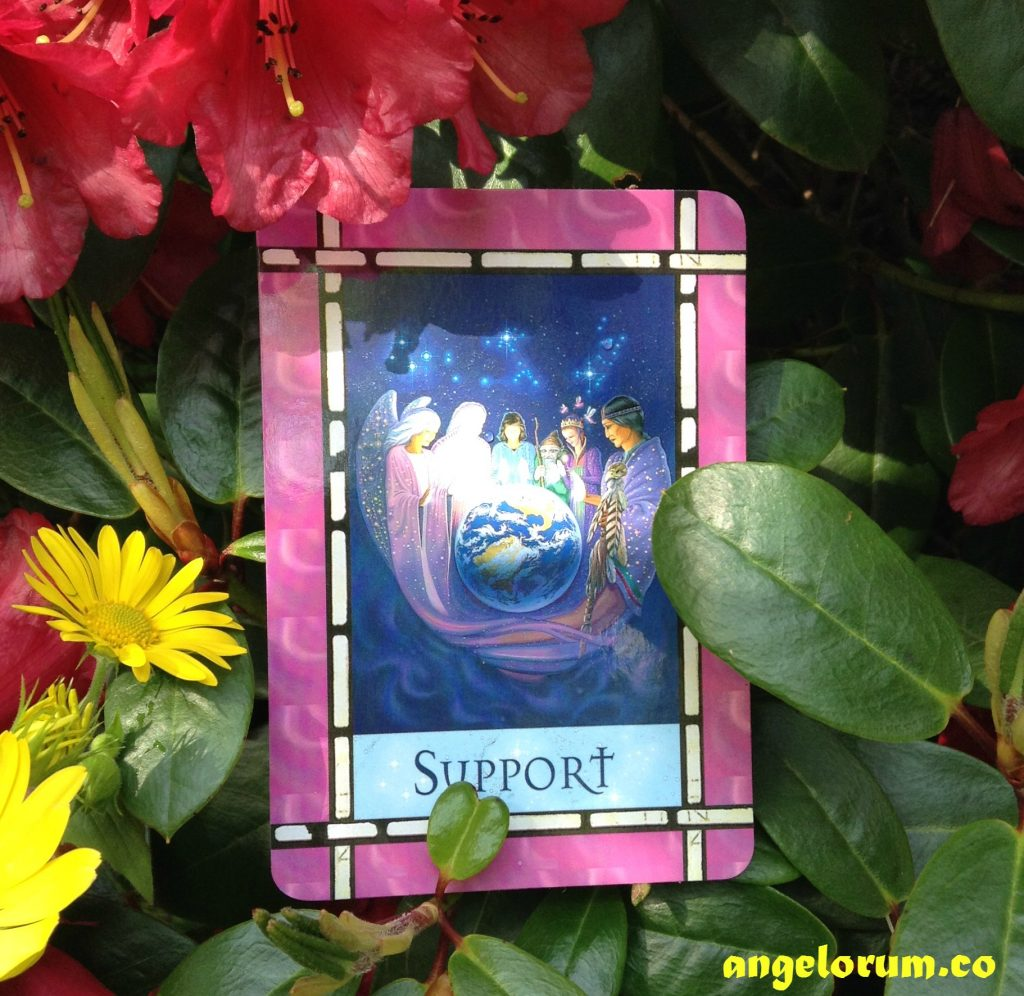 Support from Healing with the Angels by Doreen Virtue