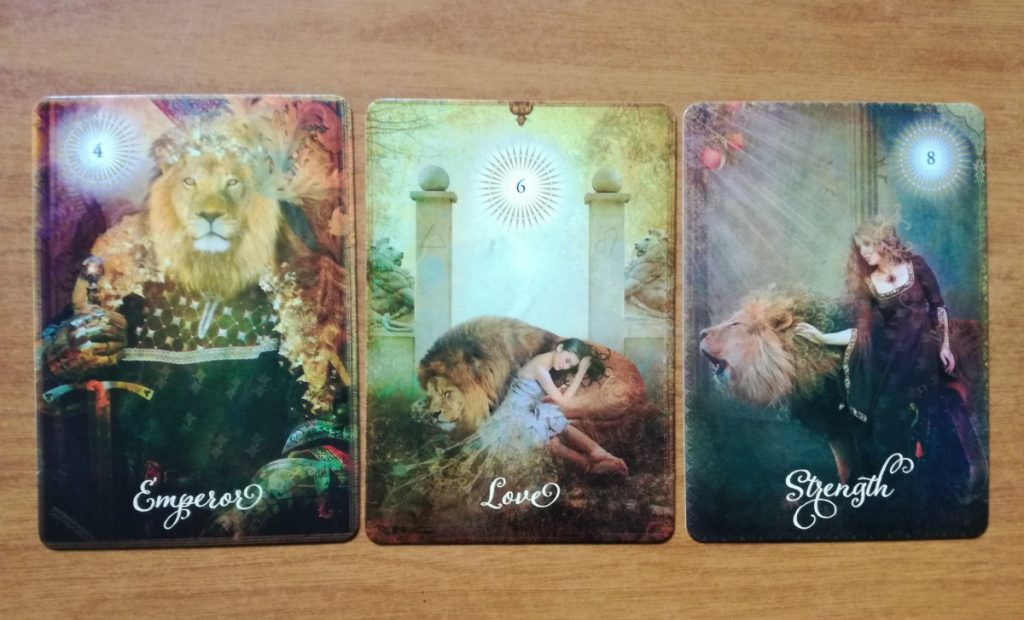 The Good Tarot Emperor Love and Strength