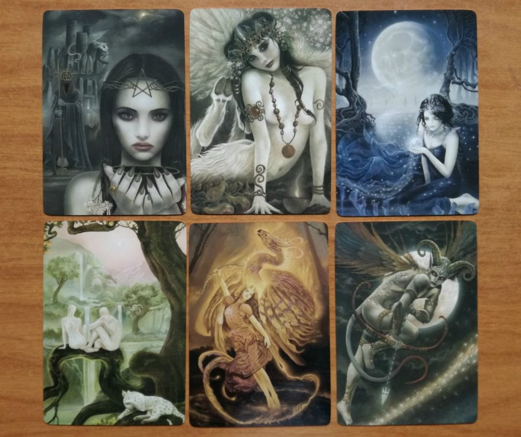 faerie enchantments sample card images