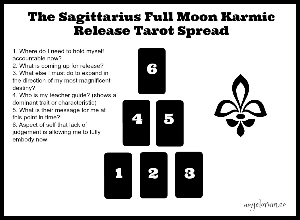sagittarius full moon tarot spread for karmic release