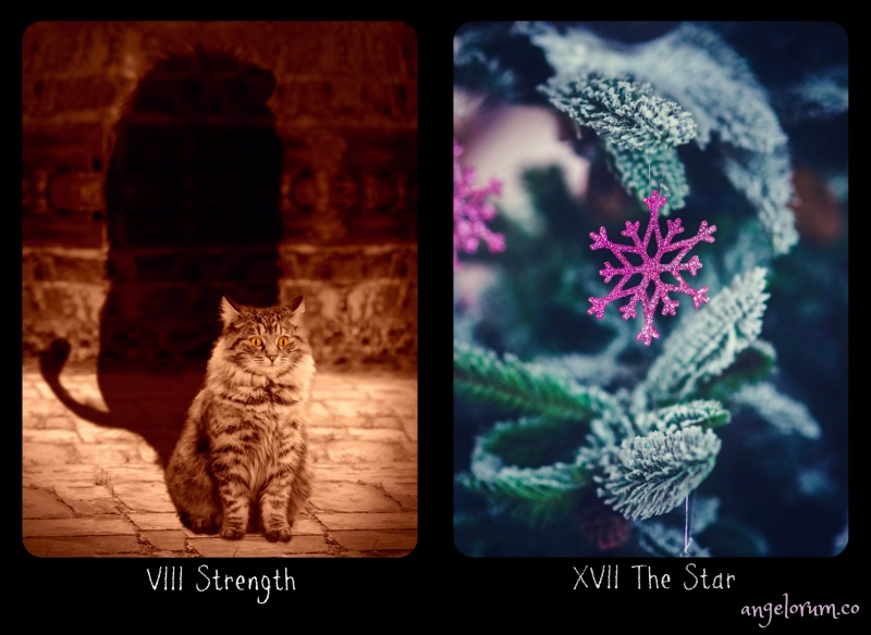 Strength and The Star from the Frideborg Tarot