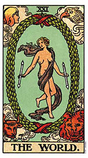 XXI The World Rider Waite Tarot