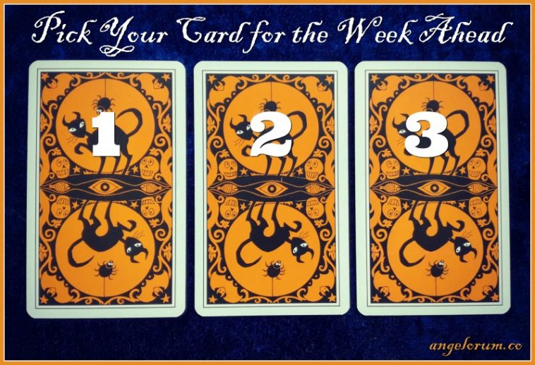 Halloween Tarot week ahead messages pick a card Friday the 13th of October