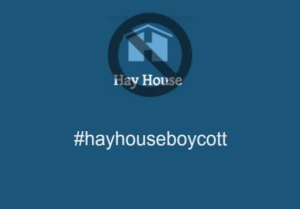hay house boycott charity event
