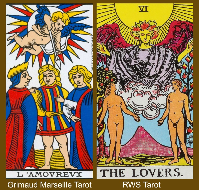06 The Tarot Lovers Marseille and RWS