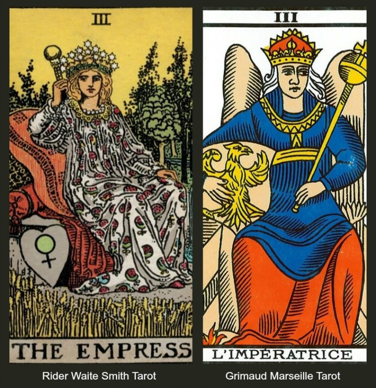 7 Facets of the Tarot Empress Marseille and Rider Waite Smith