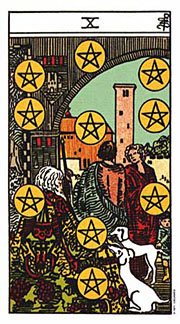 10 of Pentacles Thanksgiving Thursday