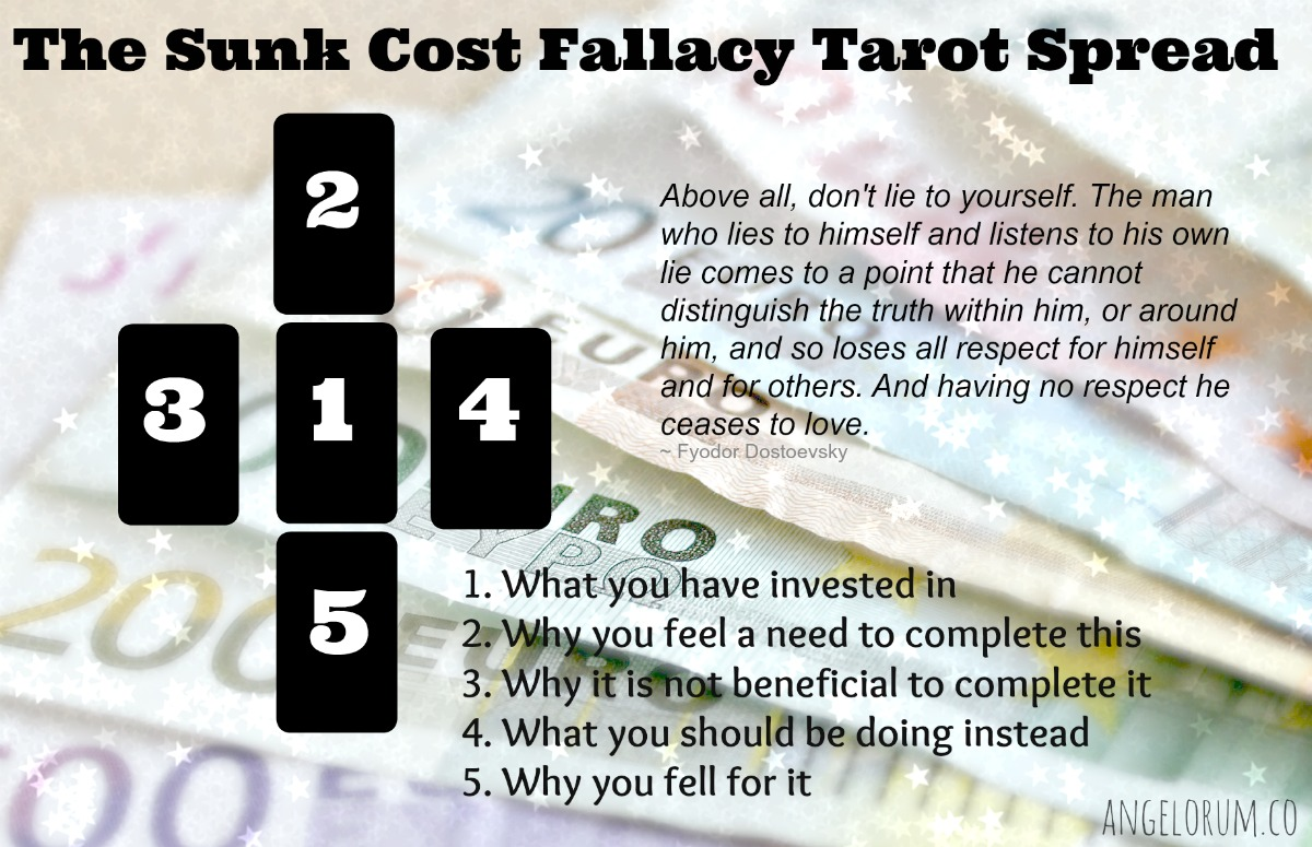 the sunk cost fallacy tarot spread