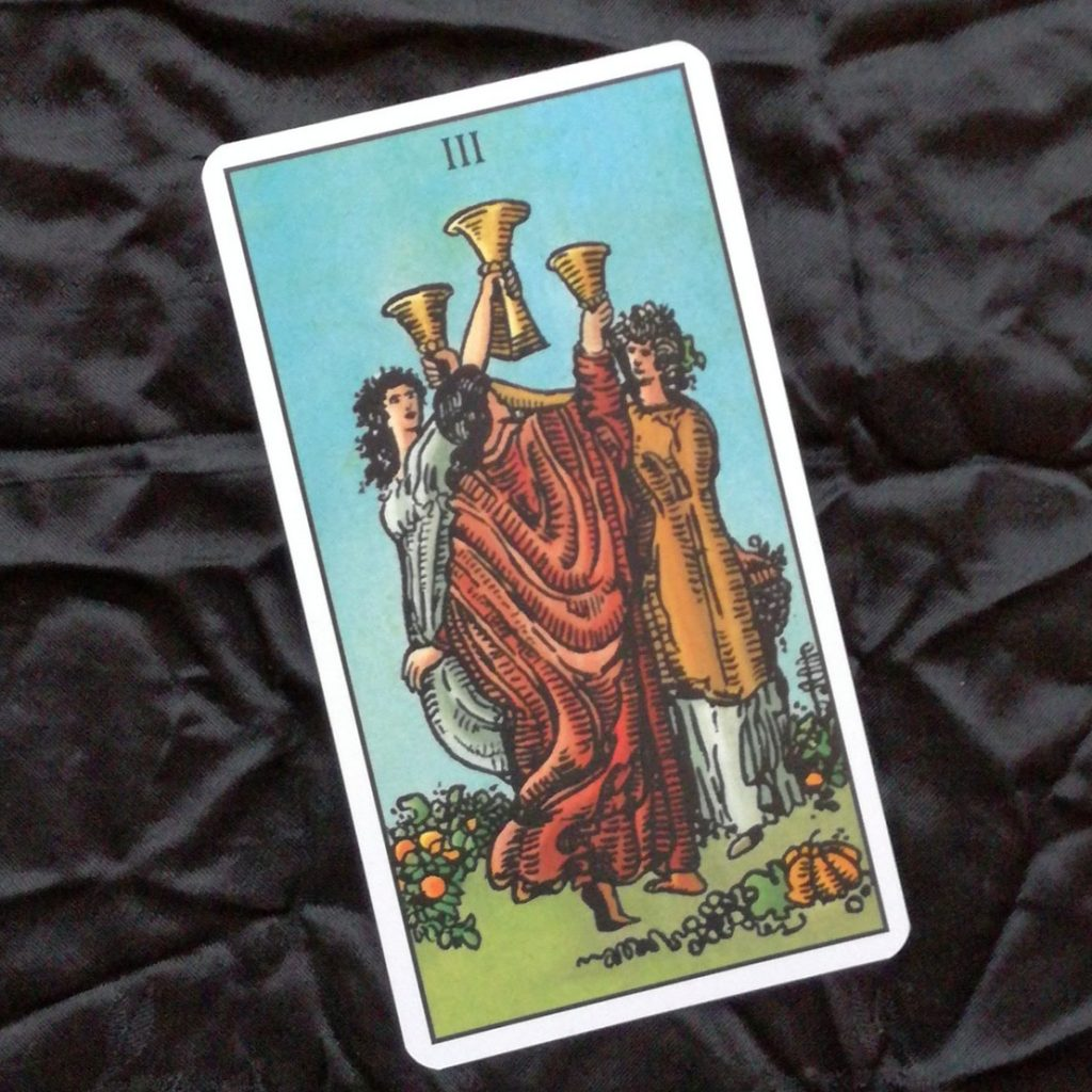 2017 Year Review 3 of Cups Tarot Card