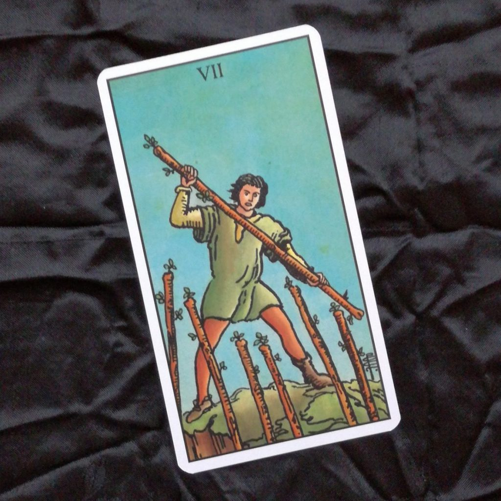 2017 Year Review 7 of Wands Tarot Card