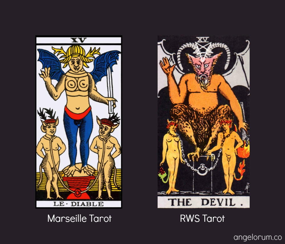 The Tarot Devil Marseille and RWS Tarot