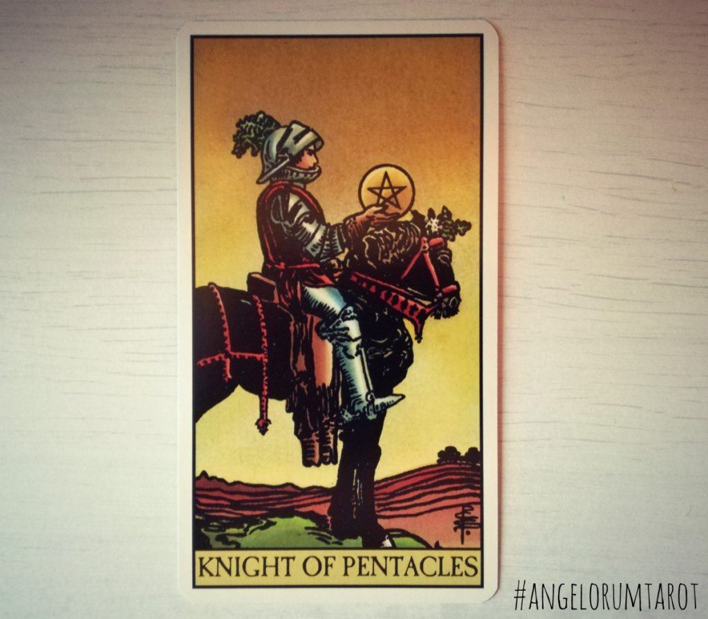 Day 23 of the 2017 Year Review Knight of Pentacles Tarot Card