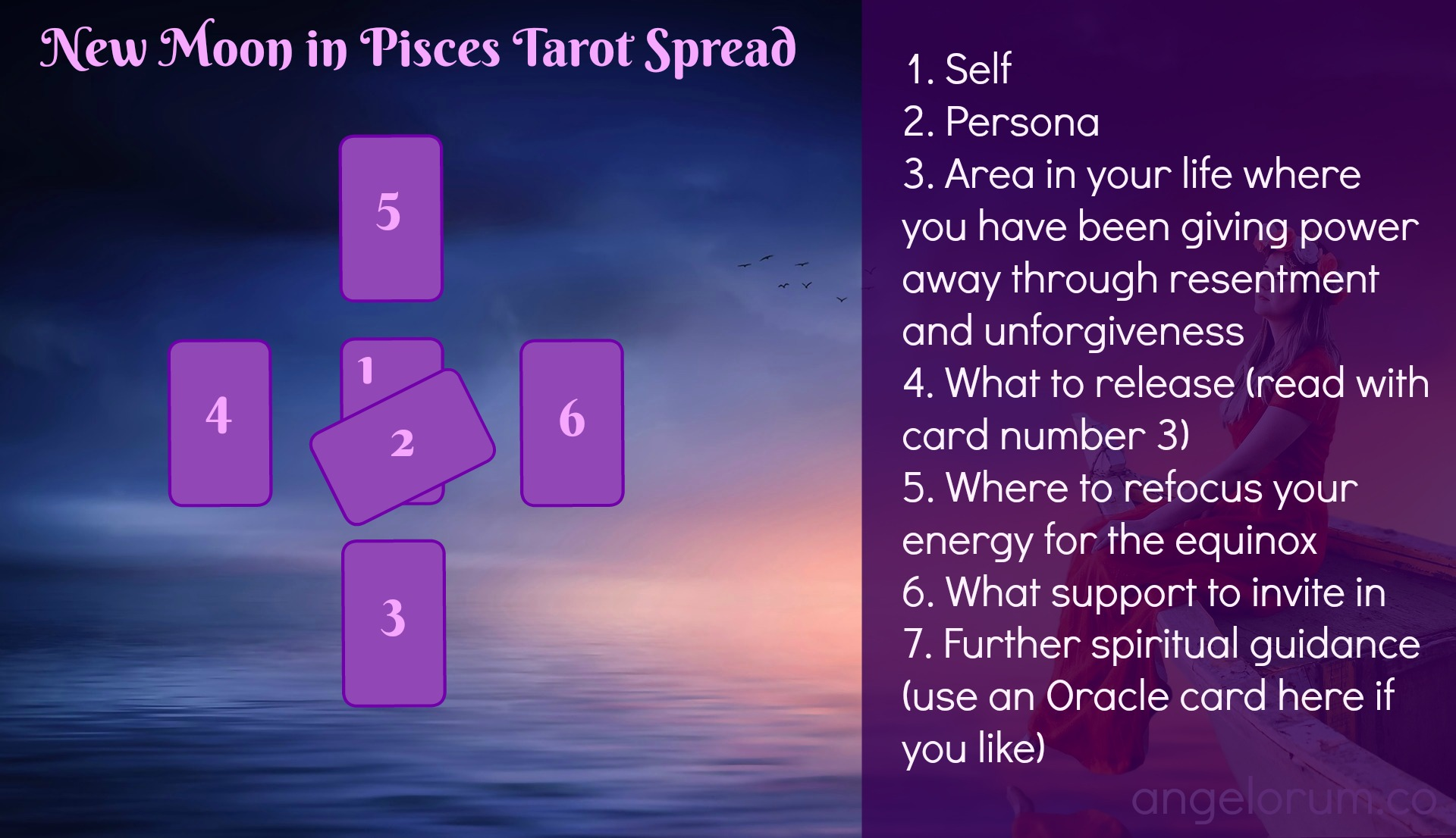 New Moon in Pisces Tarot Spread 2018