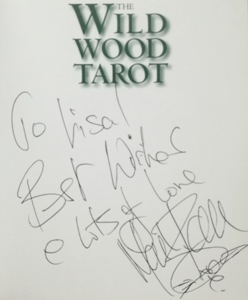 Wildwood Tarot deck companion book signed by Mark Ryan