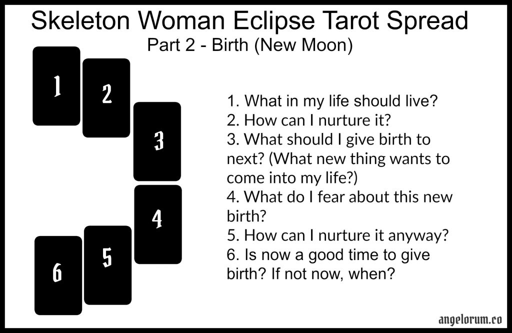 Skeleton Woman Eclipse Tarot Spread Part 2 New Moon