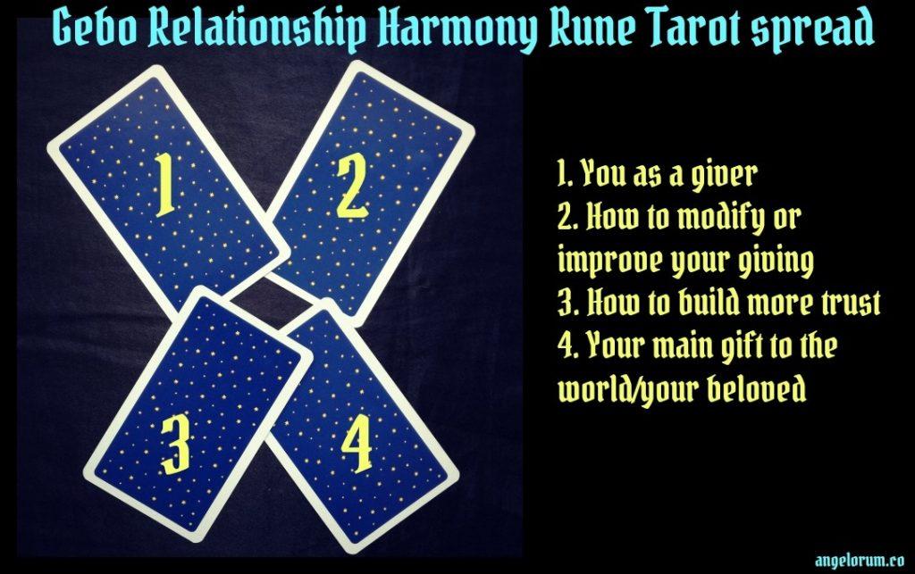 Gebo Relationship Harmony Rune Tarot Spread