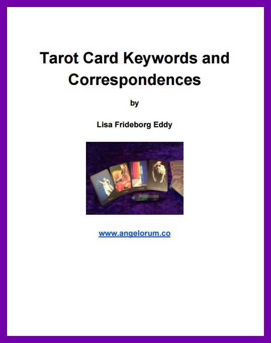 Tarot Keywords FREE PDF download